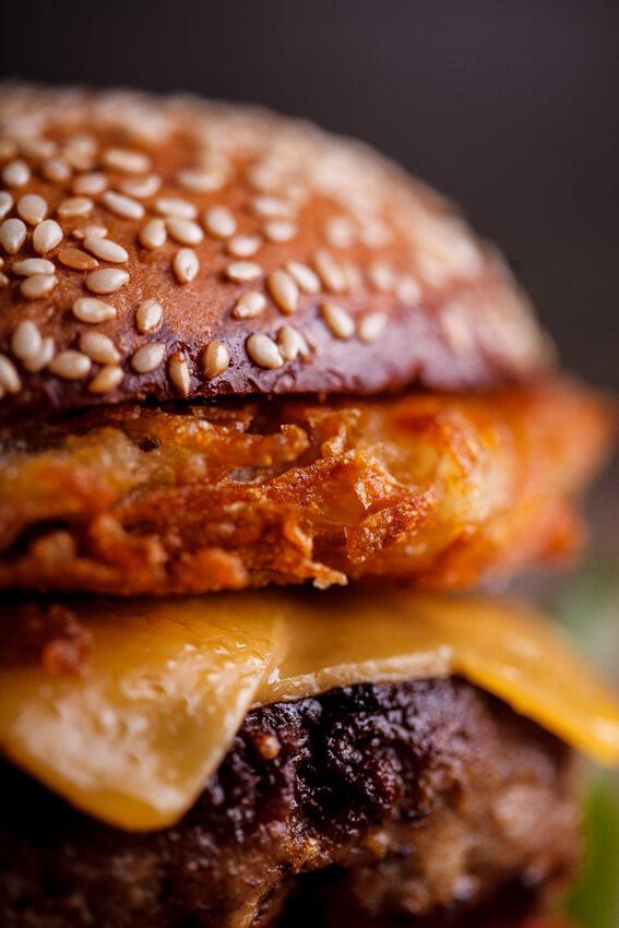 Hash brown cheeseburgers