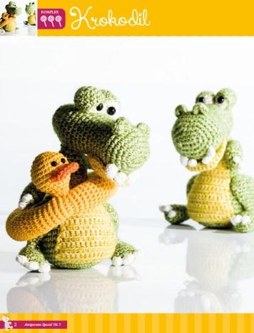 Krokodil – Fantastische Häkelideen Monster Amigurumi Vol. 5