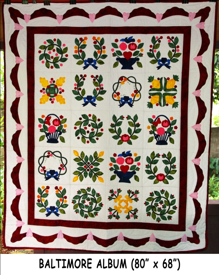Poinsettia Flower Dogs Baltimore Album (80 X 68) : Simply The Best Quilts