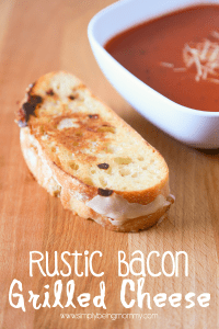 Rustic Bacon Grilled Cheese | A Grilled Cheese Recipe