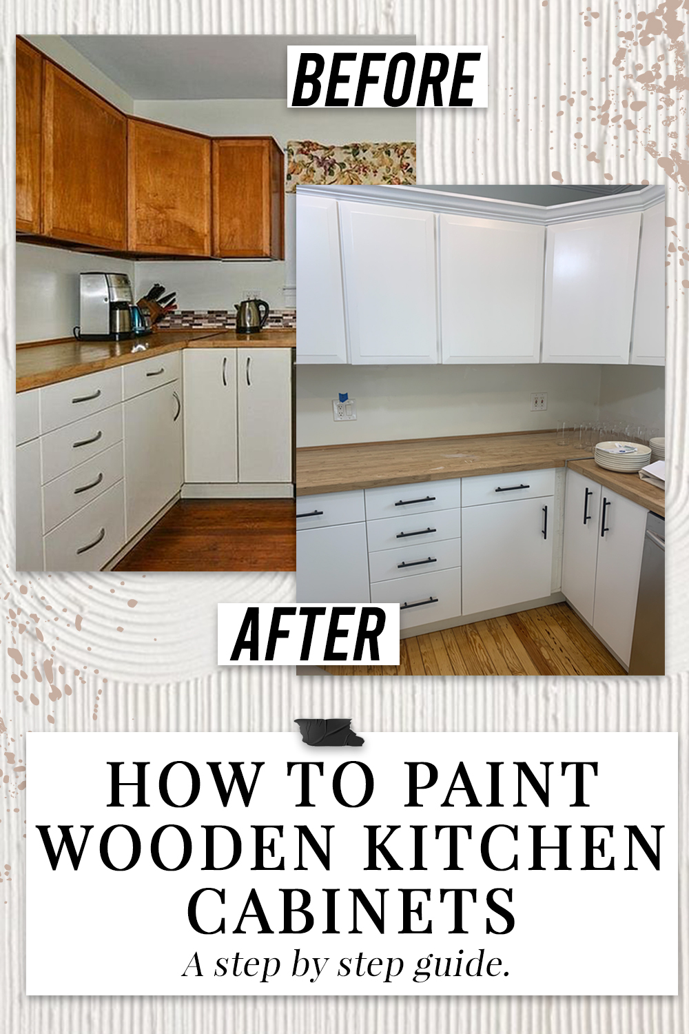 How To Paint Wooden Kitchen Cabinets Step By Step Guide Simply By Simone