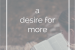 a desire for more