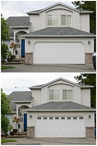 Easy DIY Faux Garage Door Windows - Simply {Darr}ling
