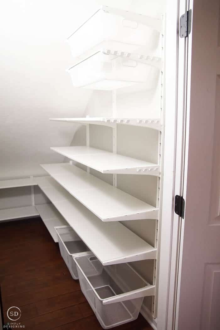 How To Organize A Closet Under The Stairs Pantry