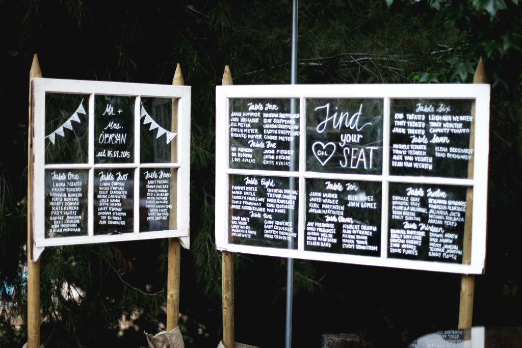 Window Pane Wedding Seating Chart Wedding Tips and Inspiration