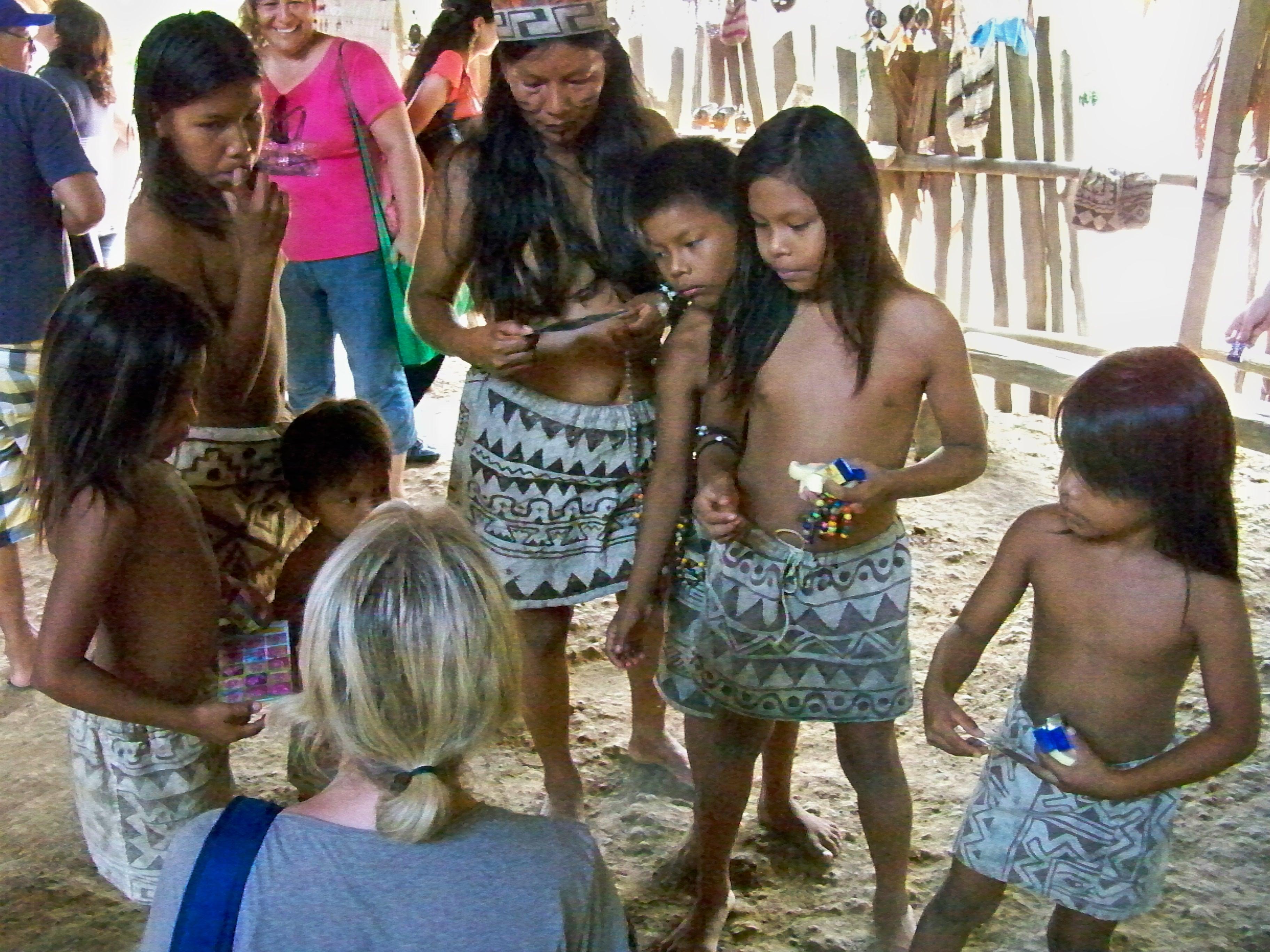 peru jungle young village girl