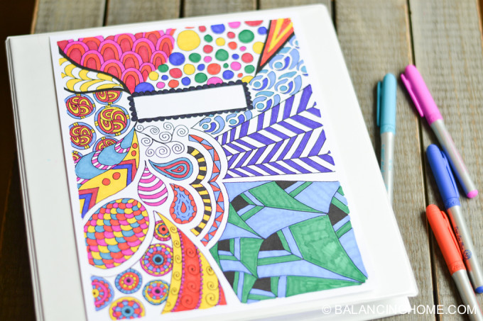 5 Sources for Free Binder Covers to Color \u2013 Simply Inspired