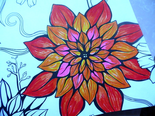 brush marker flower