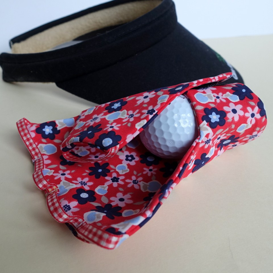 Red blue floral with check with hatIMG_2961