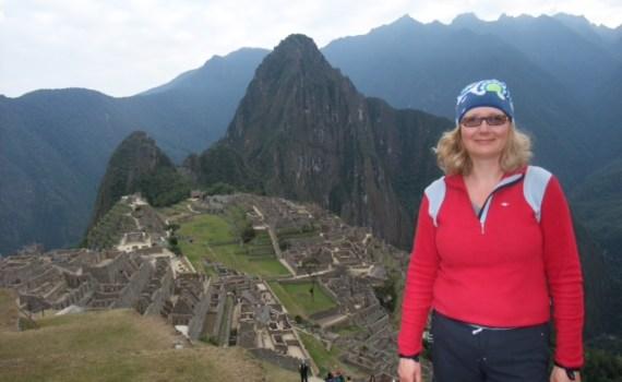 Britta at Machu Pichu