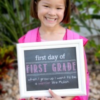 First Day of School Faux Chalkboard