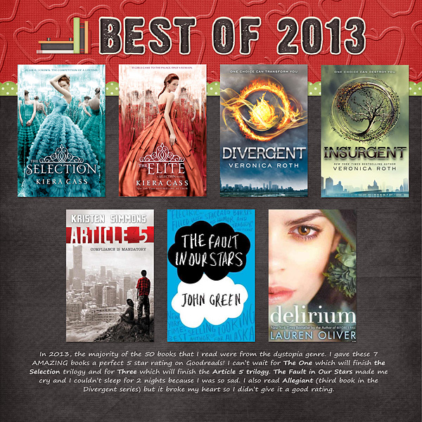 2013 Year In Review Layout Inspiration: Favorite Books