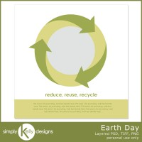 Pixel Scrapper Blog Train: Earth Day Template