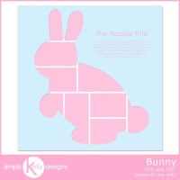 Facebook Freebie: Bunny Digital Scrapbook Template