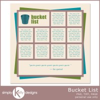 Bucket List Template