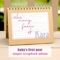 Baby's First Year Simple Scrapbook Album