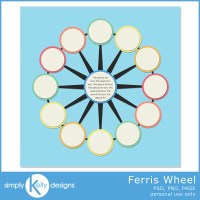 Ferris Wheel Digital Scrapbook Template
