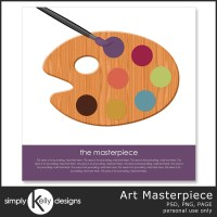 Art Masterpiece Digital Scrapbook Template