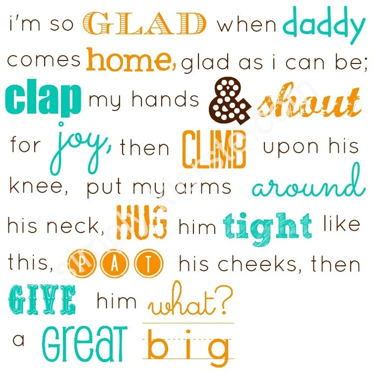 Father\u0027s Day FREE Printables simplykierste - father day cards from daughters