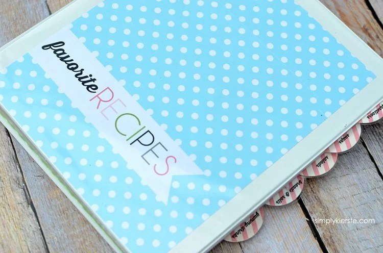 DIY Recipe Binder FREE PRINTABLES simplykierste