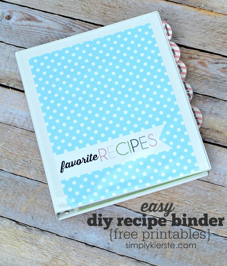 DIY Recipe Binder FREE PRINTABLES simplykierste
