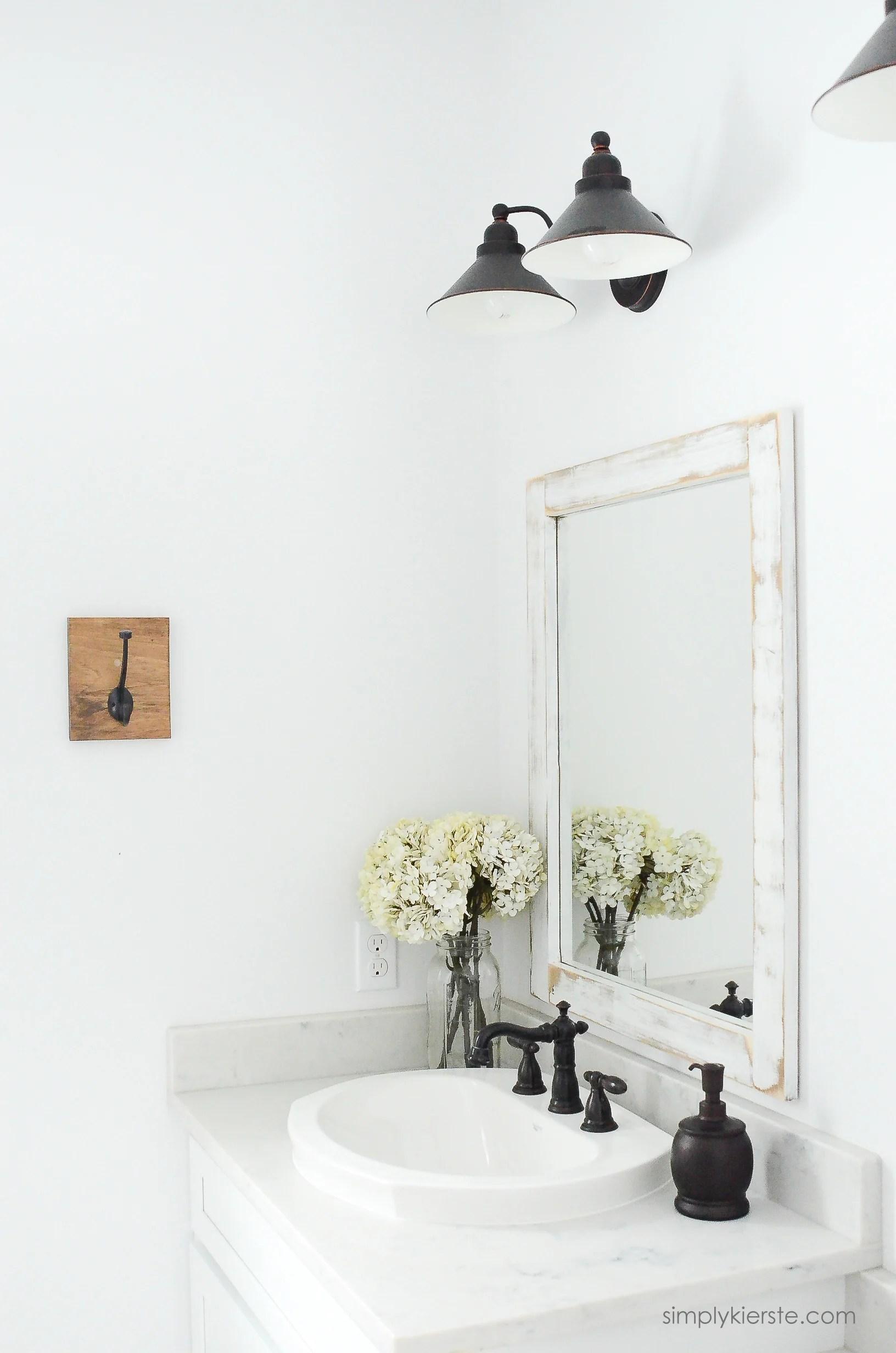 Farmhouse Bathroom Diy Framed Mirrors Simply Kierste