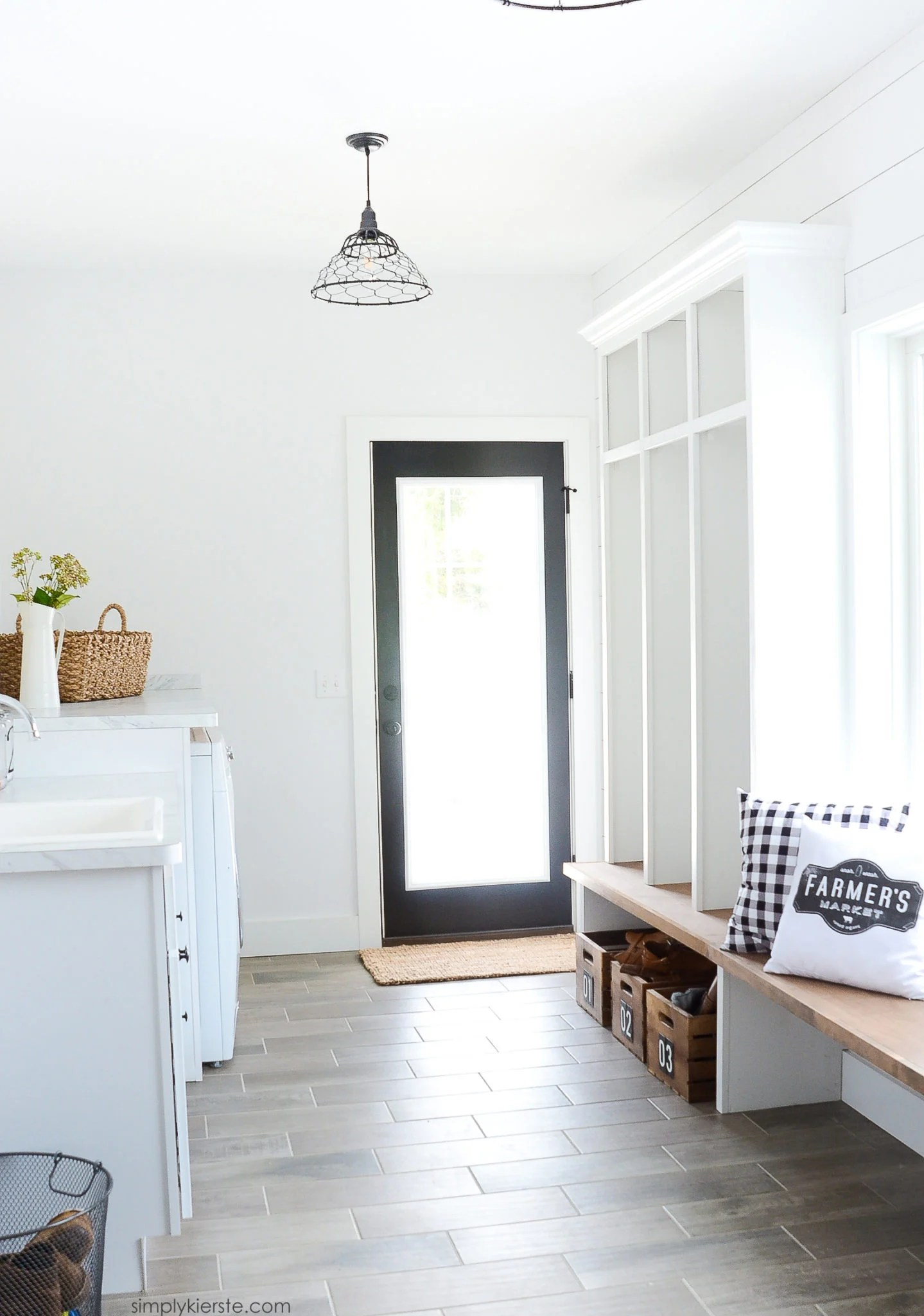 Farmhouse Laundry Room Floor Farmhouse Laundry Room And Mud Room Simply Kierste Design Co
