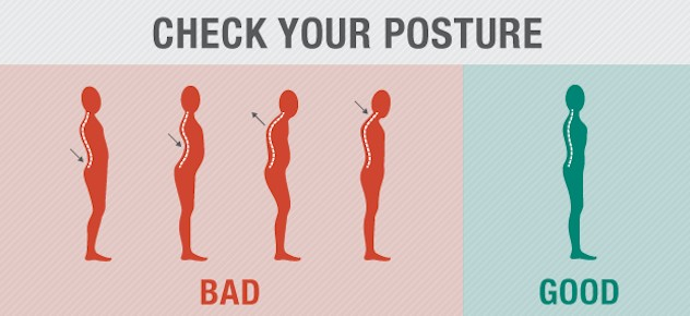 Change your posture for the back pain