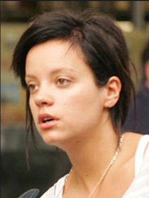 Lily Allen without make up