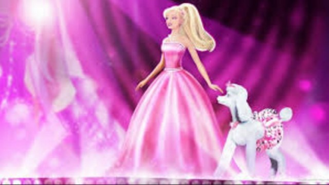 walking barbie doll hd wall paer with dog