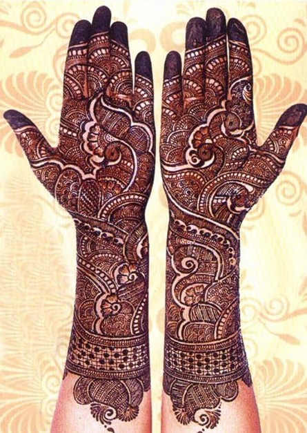 Indian style mehndi design