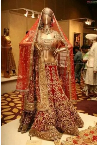 bridal red lehenga