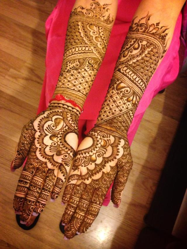Indian bridal mehndi design