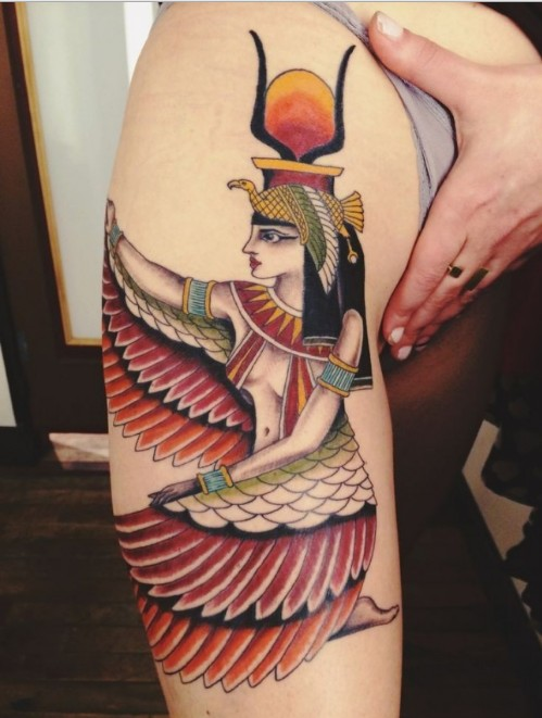 egyptian goddess tattoo