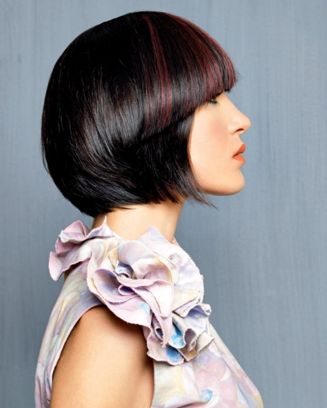 color hair bangs