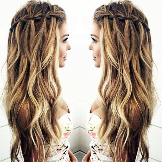 long twist waterfall hairstyle