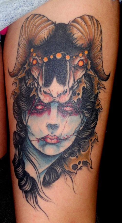chicago bull tattoo design