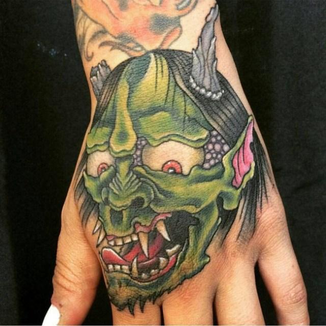 samurai mask tattoo