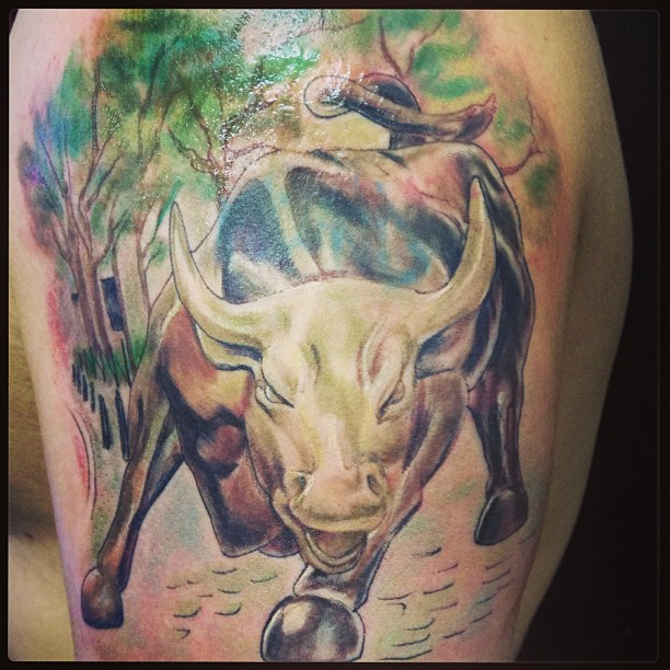 20 amazing bull tattoo design their meaning with pictures for Bull tattoo meaning