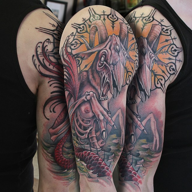 capricorn tattoo design for forearms
