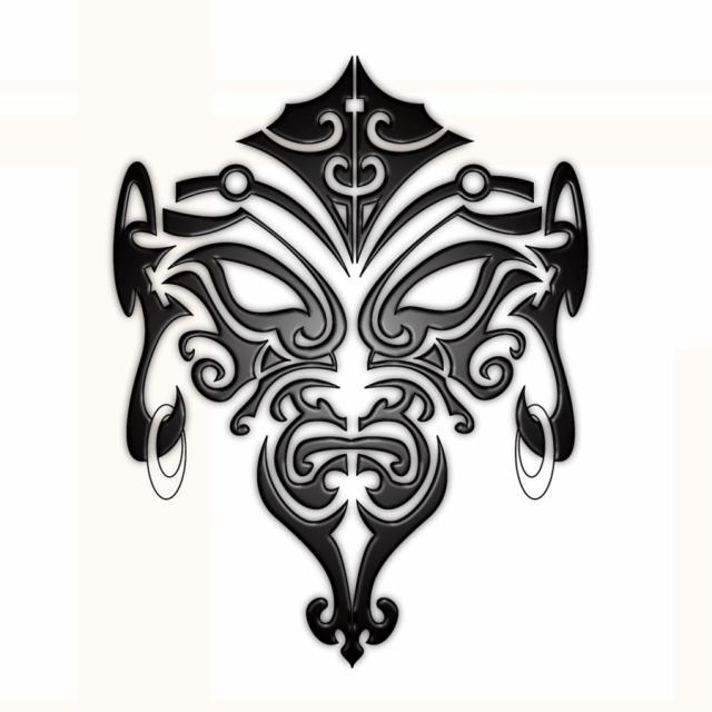 mask maori tattoo