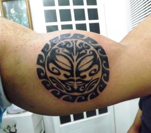 sun maori tattoo