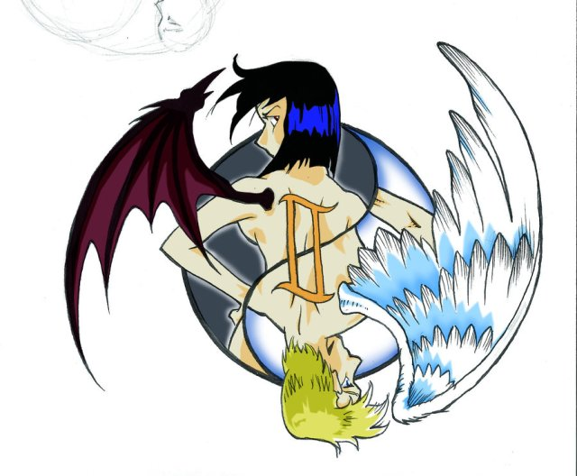 gemini symbol tattoo design