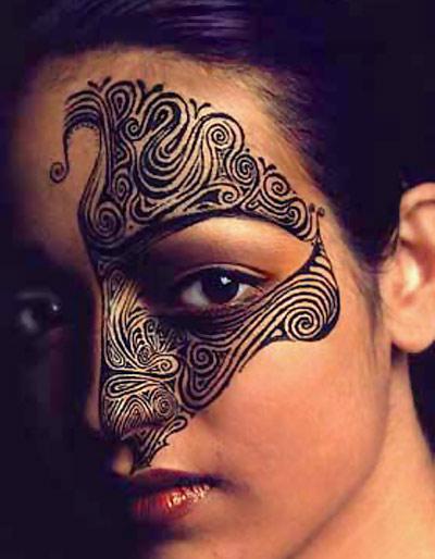 eye maori tattoo