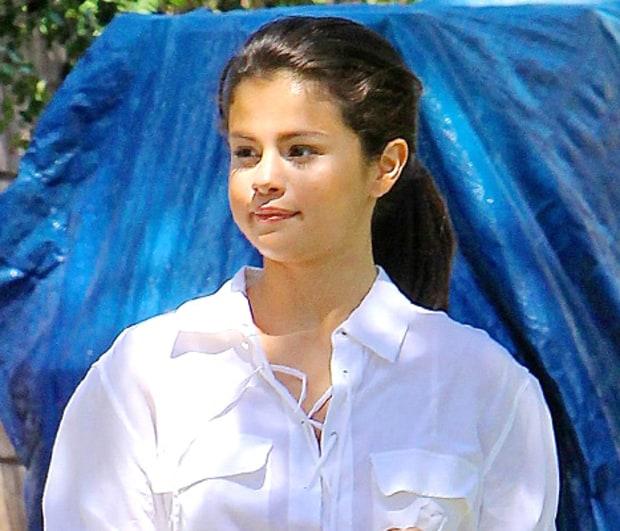 selena gomez in white shirt