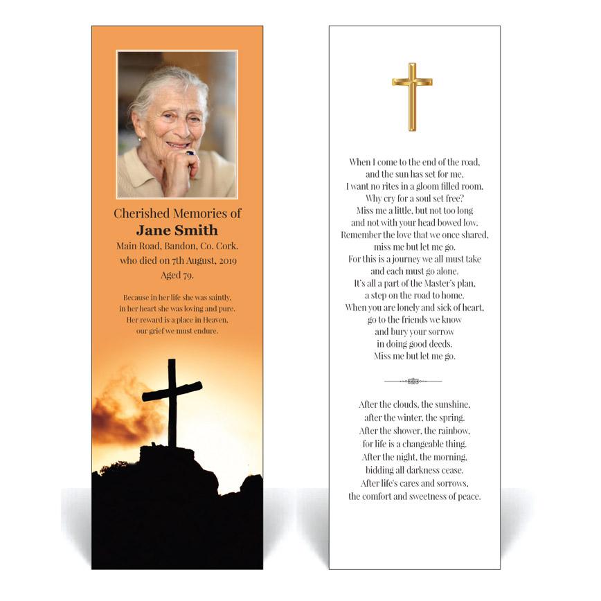Religious / Spiritual Bookmark RB04 · Simply Memorial Cards