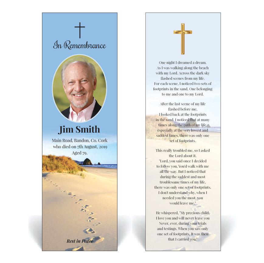Religious / Spiritual Bookmark RB06 · Simply Memorial Cards