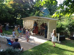 Small Of Backyard Party Shed