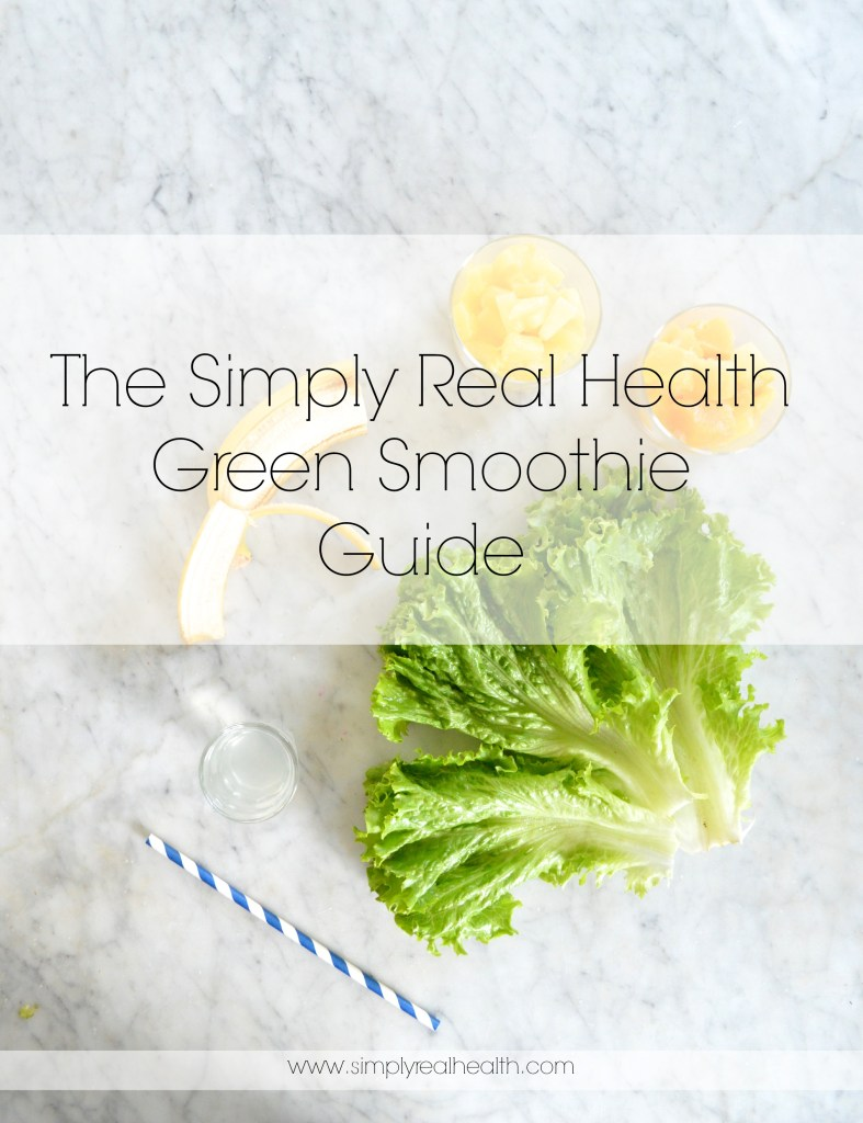 The Simply Real Health Green Smoothie Recipe Guide + Collection. Over 30 different healthy recipes to try! via www.simplyrealhealth.com