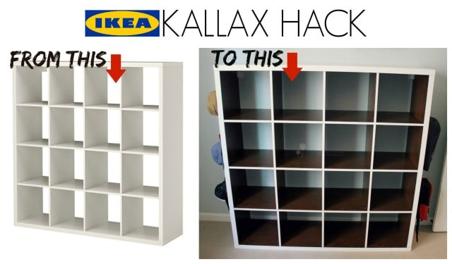 Regal 4x4 Ikea Kallax Hack - Simply Real Moms